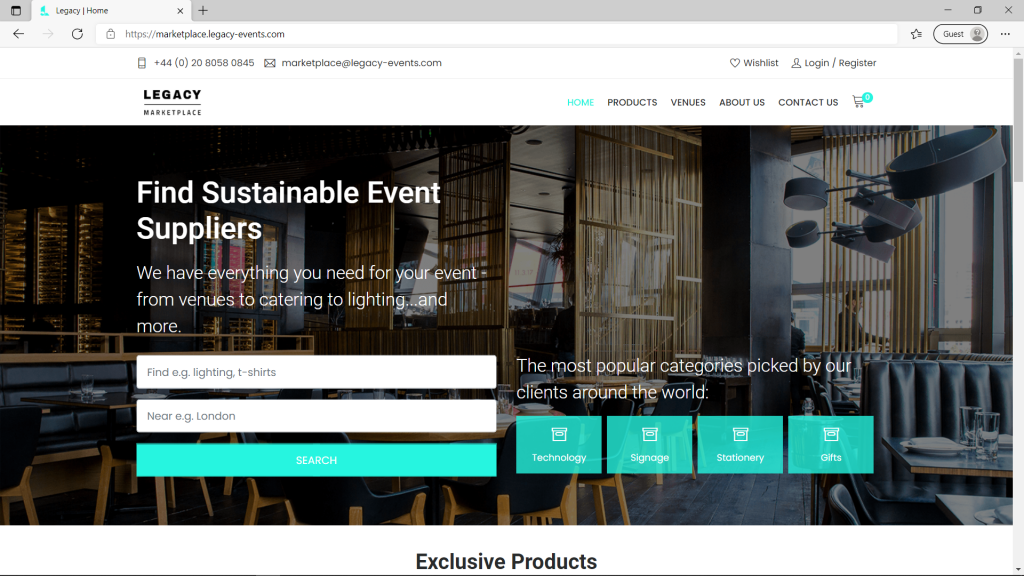 Marketplace Homepage